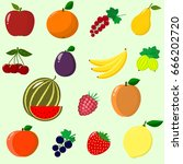 illustration of juicy and ripe... | Shutterstock .eps vector #666202720
