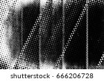 grunge black and white circle... | Shutterstock . vector #666206728