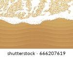 soft wave sea on sandy beach.... | Shutterstock .eps vector #666207619