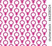 pattern background female sign... | Shutterstock .eps vector #666208324