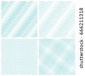 abstract set of wavy seamless... | Shutterstock .eps vector #666211318