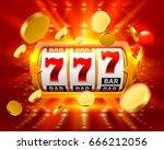 golden big win slots 777 banner ... | Shutterstock .eps vector #666212056