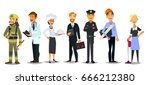 labor day. a group of people of ... | Shutterstock .eps vector #666212380