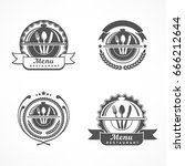 set of design menu label with... | Shutterstock .eps vector #666212644
