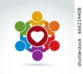 heart and social medical and... | Shutterstock .eps vector #666214408