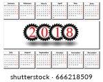 Simple Calendar Of 2018 On A...