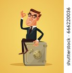 happy smiling rich businessman... | Shutterstock .eps vector #666220036