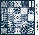graphic ornamental tiles... | Shutterstock .eps vector #666223360