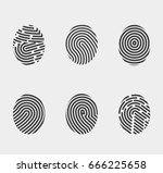finger print icons set vector... | Shutterstock .eps vector #666225658