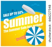 summer sale  up to fifty... | Shutterstock .eps vector #666227548