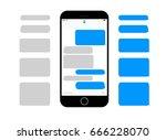 mobile phone  screen messaging... | Shutterstock .eps vector #666228070