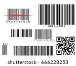 bar qr code scanning vector... | Shutterstock .eps vector #666228253