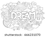 abstract background with text... | Shutterstock .eps vector #666231070