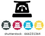 kitchen weighing scale   icon | Shutterstock .eps vector #666231364
