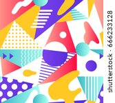 abstract modern geometric... | Shutterstock .eps vector #666233128