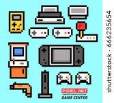 game center. pixel art....