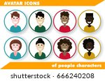 vector illustration of flat... | Shutterstock .eps vector #666240208