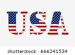 letters usa made from american... | Shutterstock .eps vector #666241534