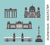 german historical monuments of...   Shutterstock .eps vector #666241789