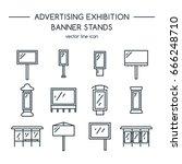 advertising billboards and...   Shutterstock .eps vector #666248710