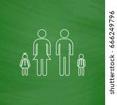 happy family outline icon....