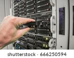 replacing the hard drive is in... | Shutterstock . vector #666250594