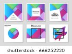 abstract vector layout... | Shutterstock .eps vector #666252220