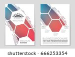 abstract vector layout...   Shutterstock .eps vector #666253354