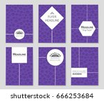 abstract vector layout... | Shutterstock .eps vector #666253684