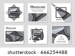 abstract vector layout... | Shutterstock .eps vector #666254488