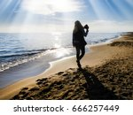 young adult woman taking... | Shutterstock . vector #666257449