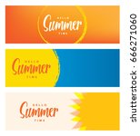 hello summer time heading 3... | Shutterstock .eps vector #666271060