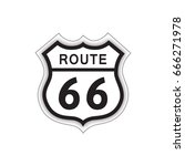 travel usa sign. route 66 label.... | Shutterstock .eps vector #666271978