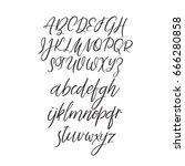 modern calligraphy alphabet.... | Shutterstock .eps vector #666280858