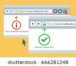 web browser https secure... | Shutterstock .eps vector #666281248