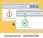 web browser https secure... | Shutterstock .eps vector #666281248
