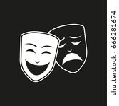 theater mask on black... | Shutterstock .eps vector #666281674