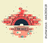 vector stylized linear image of ... | Shutterstock .eps vector #666283618