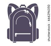 bag school shadow isolated on...   Shutterstock .eps vector #666296350