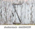 rustic barn doors  wooden... | Shutterstock . vector #666304339