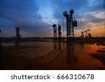 the oil pump  industrial... | Shutterstock . vector #666310678