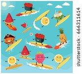 vintage summer poster design... | Shutterstock .eps vector #666311614
