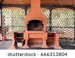 old garden heater. grill usable ... | Shutterstock . vector #666313804