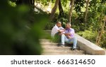 homosexual couple  gay people.... | Shutterstock . vector #666314650