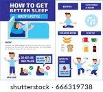 how to get better sleep....   Shutterstock .eps vector #666319738