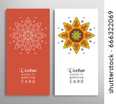 cards or invitations set with...   Shutterstock .eps vector #666322069