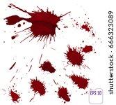 blood splatter or stain... | Shutterstock .eps vector #666323089