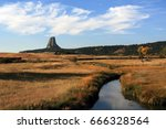 devils tower  also know as bear ... | Shutterstock . vector #666328564