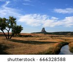 devils tower  also know as bear ... | Shutterstock . vector #666328588
