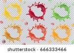 fruit juice  splashes of paint. ... | Shutterstock .eps vector #666333466